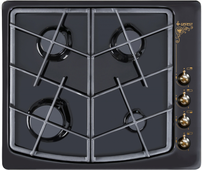 Варочная панель Gefest СН 1211 К73, газовая, черный Gefest