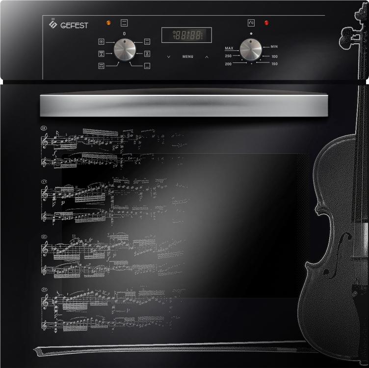 Духовой шкаф Gefest ЭДВ ДА 622-02 Д1, электрический, черный