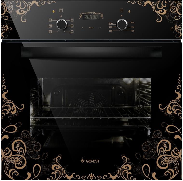 Духовой шкаф Gefest ЭДВ ДА 622-02 К19, электрический, черный