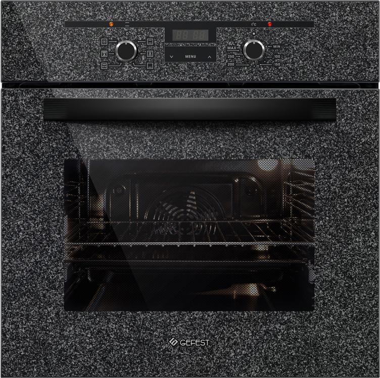 Духовой шкаф Gefest ЭДВ ДА 622-02 К43, электрический, встраиваемый, черный встраиваемый электрический духовой шкаф gefest эдв да 622 04 б