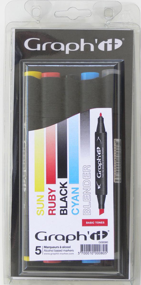 Graph'It Набор маркеров Basic цвет основные цвета 5 шт