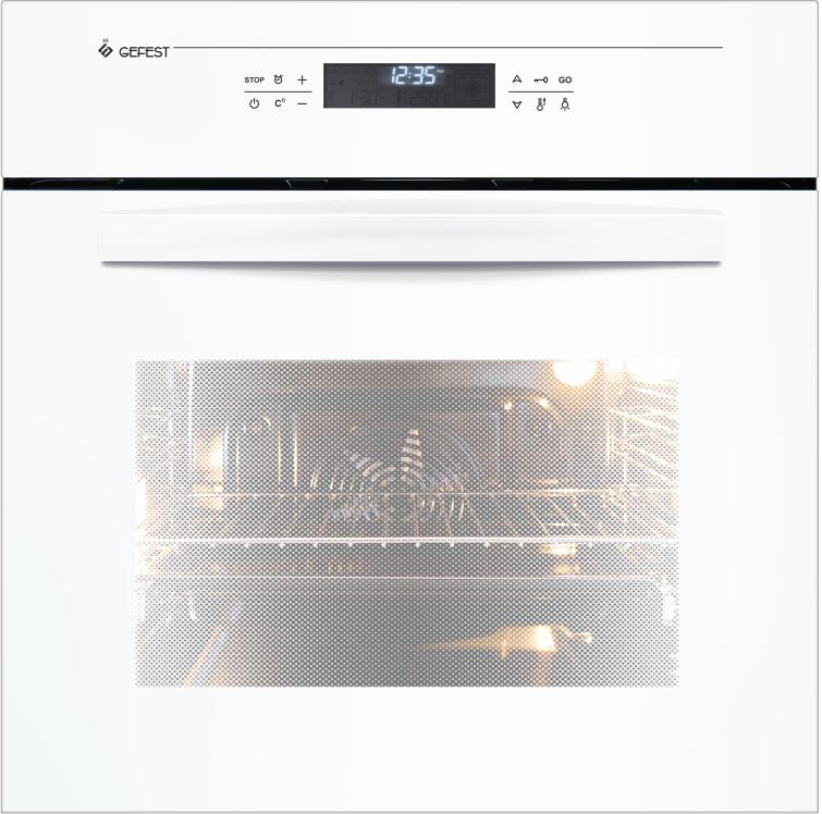Духовой шкаф Gefest ЭДВ ДА 622-04 Б, электрический, встраиваемый, белый встраиваемый электрический духовой шкаф gefest эдв да 622 04 б