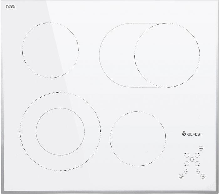 Варочная панель Gefest ЭС В СН 4231 К12, электрическая, белый варочная панель gefest эс в сн 4232 к12 электрическая встраиваемая белый