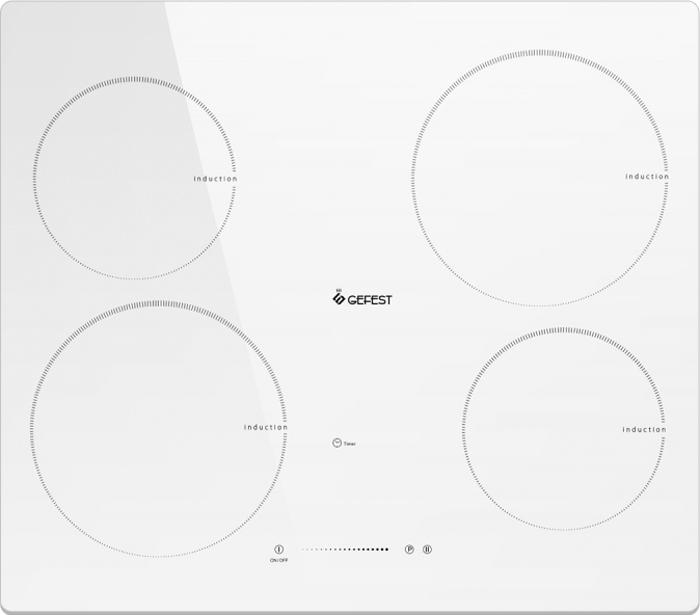 Варочная панель Gefest ЭС В СН 4232 К12, электрическая, встраиваемая, белый electrolux ehi 9654hfk панель варочная электрическая встраиваемая