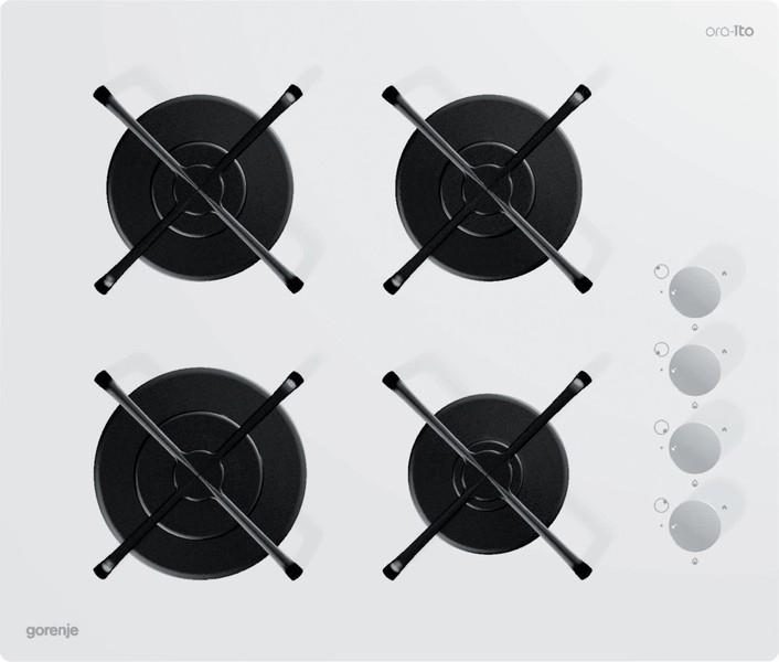 цена на Варочная панель Gorenje GHS64-ORA-W, 49969745, встраиваемая, газовая, white