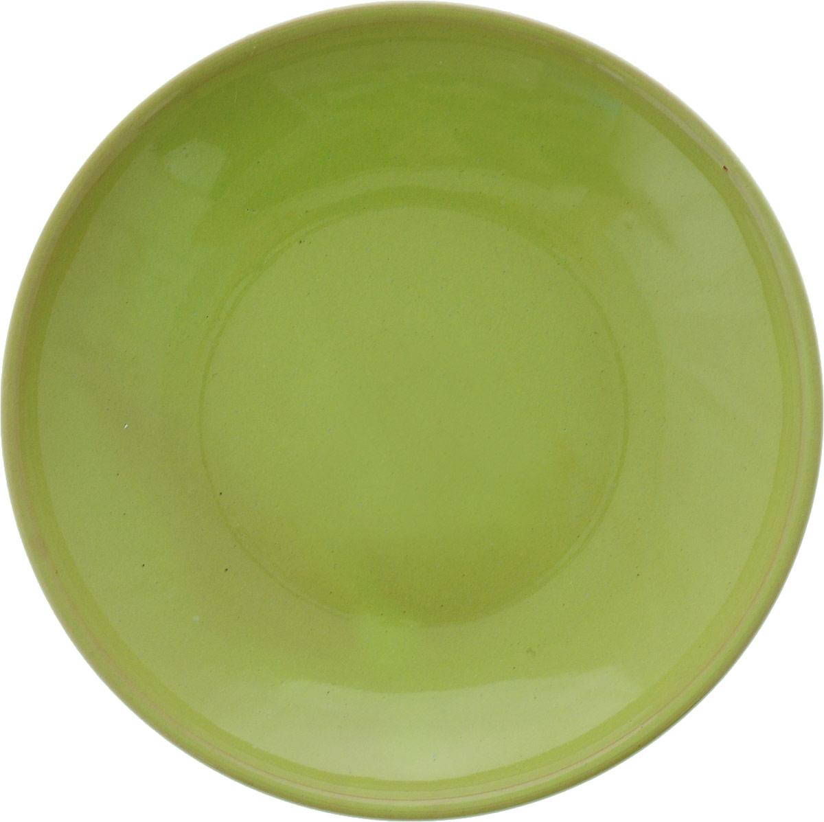 Фото - Блюдце Борисовская керамика Радуга, цвет: салатовый, диаметр 10 см блюдце борисовская керамика радуга цвет темно серый диаметр 10 см