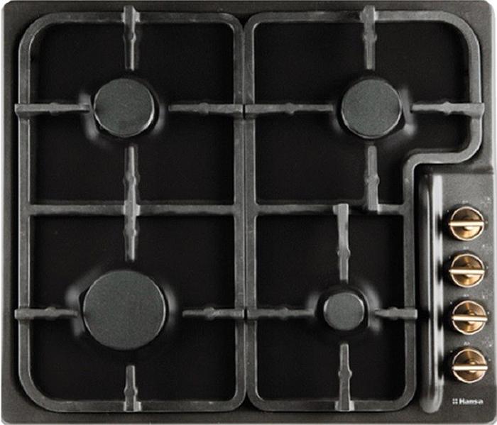 Варочная панель Hansa BHGA62059, газовая, встраиваемая, черный комплект встраиваемой техники hansa bccb64195055 черный