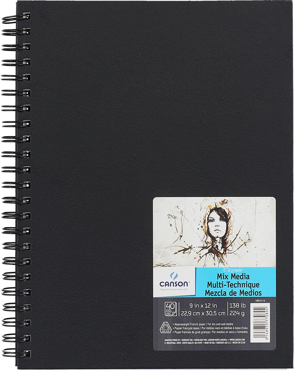 Canson Блокнот для зарисовок Mix-Media 22,9 х 30,5 см 40 листов