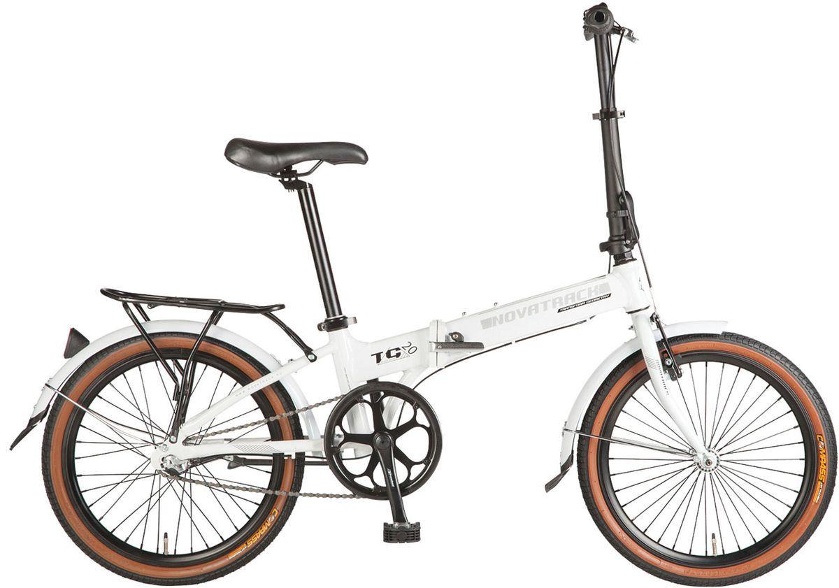 Велосипед складной Novatrack Nexus, цвет: белый, 20 новый 3 в 1 велосипед сигнал велосипед тормозная лампа рог 7 л включите задний фонарь