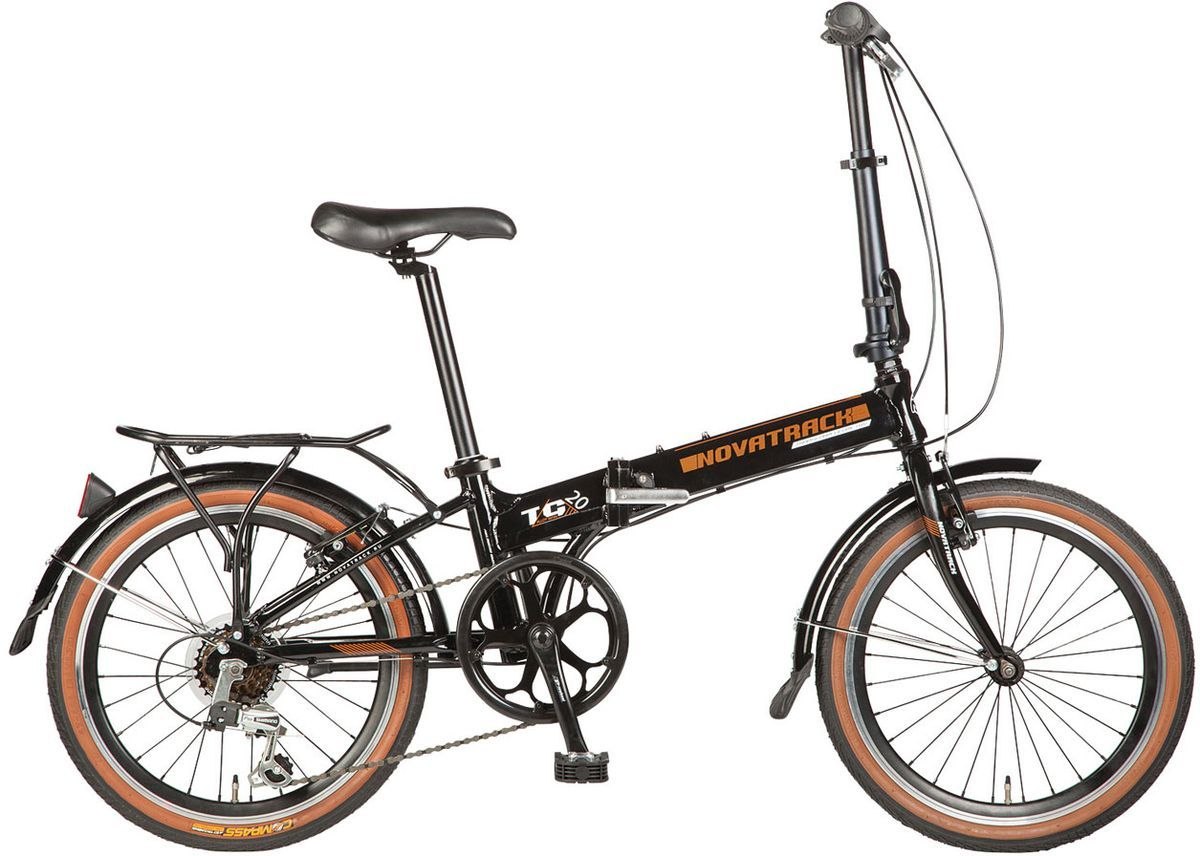 Велосипед складной Novatrack Shimano, цвет: черный, 20