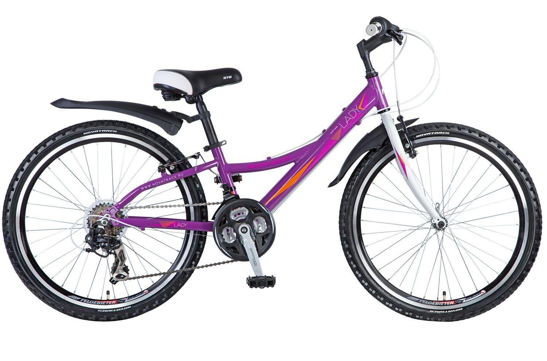 Велосипед детский Novatrack Lady, цвет: фиолетовый, 24. 24AH21SV.LADY.12VL7 велосипед детский novatrack action цвет черный 24