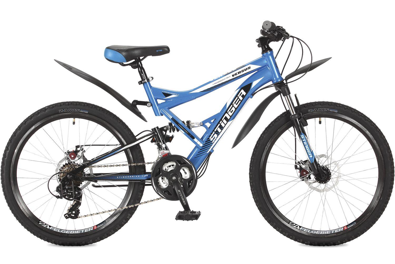 Велосипед горный Stinger Versus, цвет: синий, 24, рама 16,5. 24SFD.VERSUD.16BL7 велосипед горный stinger versus d цвет синий 26 рама 20
