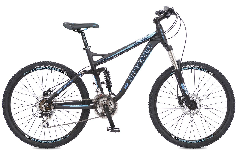 Велосипед горный Stinger Magnum, цвет: синий, 26, рама 18