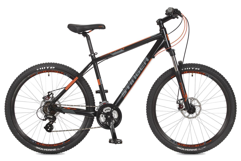 Велосипед горный Stinger Reload D, цвет: черный, 26, рама 20 велосипед горный stinger versus d цвет синий 26 рама 20
