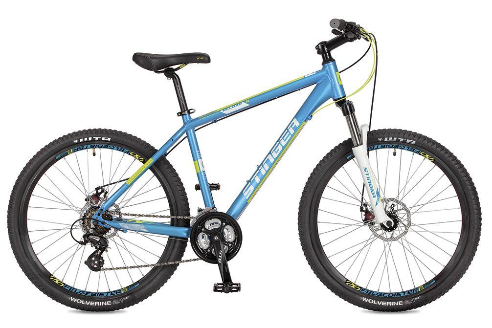 Велосипед горный Stinger Reload D, цвет: синий, 26, рама 20 велосипед горный stinger versus d цвет синий 26 рама 20