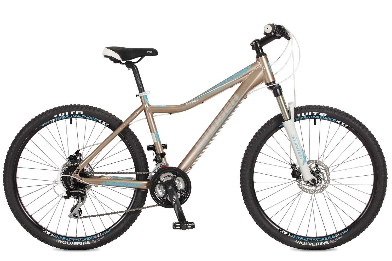 Велосипед горный Stinger Siena SD, цвет: коричневый, 26, рама 15 вилка амортизационная suntour гидравлическая для велосипедов 26 ход 100 120мм sf14 xcr32 rl 26