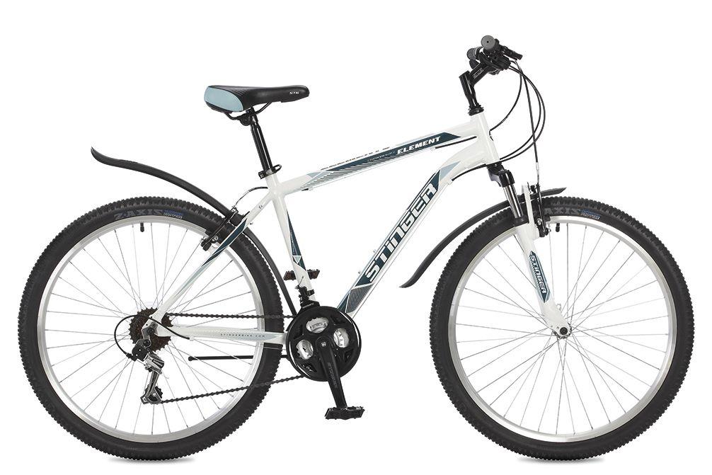 Велосипед горный Stinger Element, цвет: белый, 26, рама 18 велосипед stinger 26 ahv elem 20 wh7 26 element 20 белый