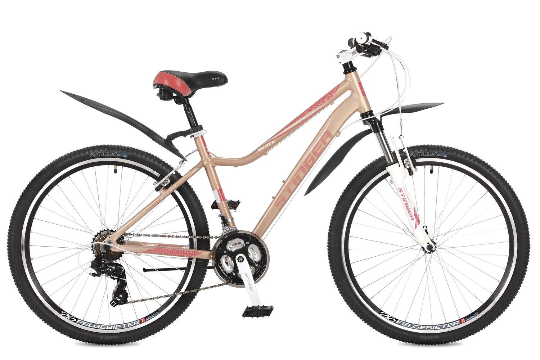 Велосипед горный Stinger Vesta, цвет: розовый, 26, рама 15