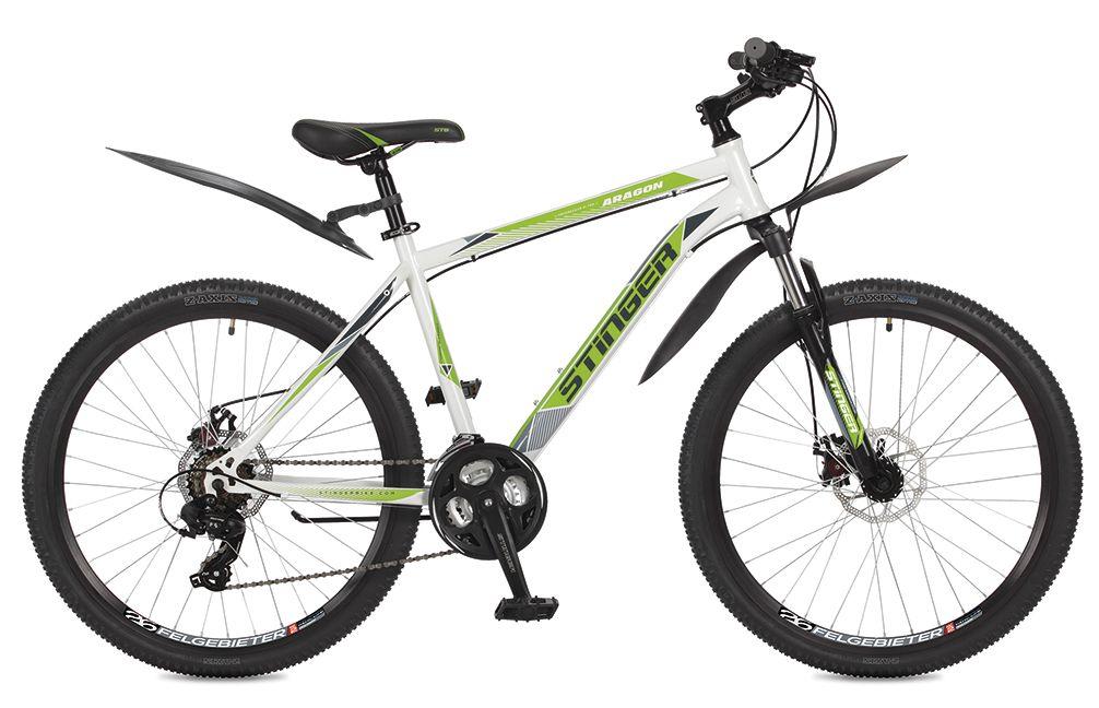 Велосипед горный Stinger Aragon, цвет: белый, 26, рама 18 велосипед stinger aragon 24 2019