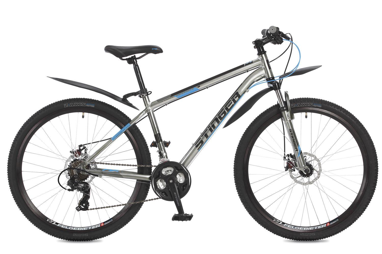 цена на Велосипед горный Stinger Graphite D, цвет: серый, 27.5, рама 16