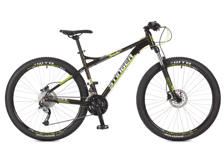 Велосипед горный Stinger Zeta HD, цвет: черный, 27.5, рама 18