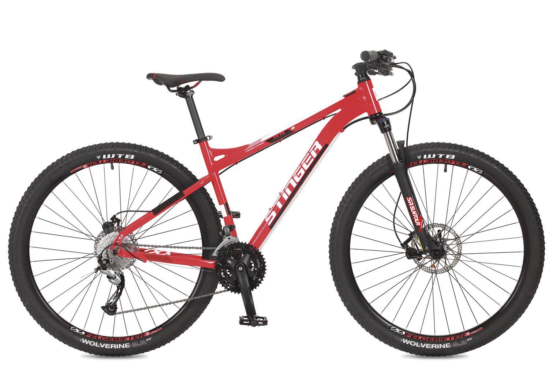 Велосипед горный Stinger Zeta D, цвет: красный, 29, рама 18