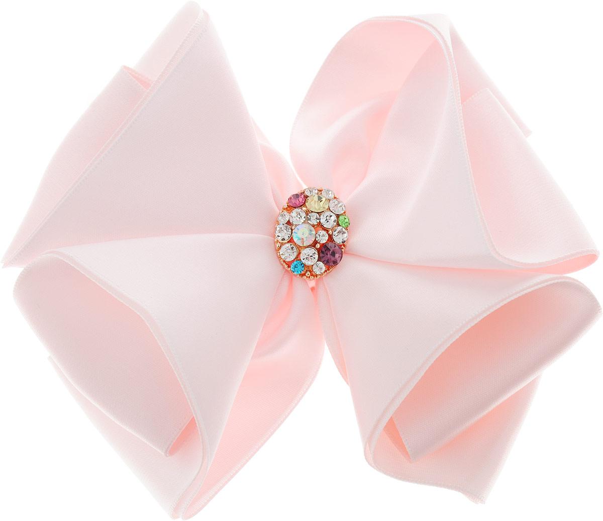 Baby's Joy Бант для волос Праздничный с бусинами MN 8_светло-розовый baby s joy резинка для волос цвет шампань 2 шт mn 205 2