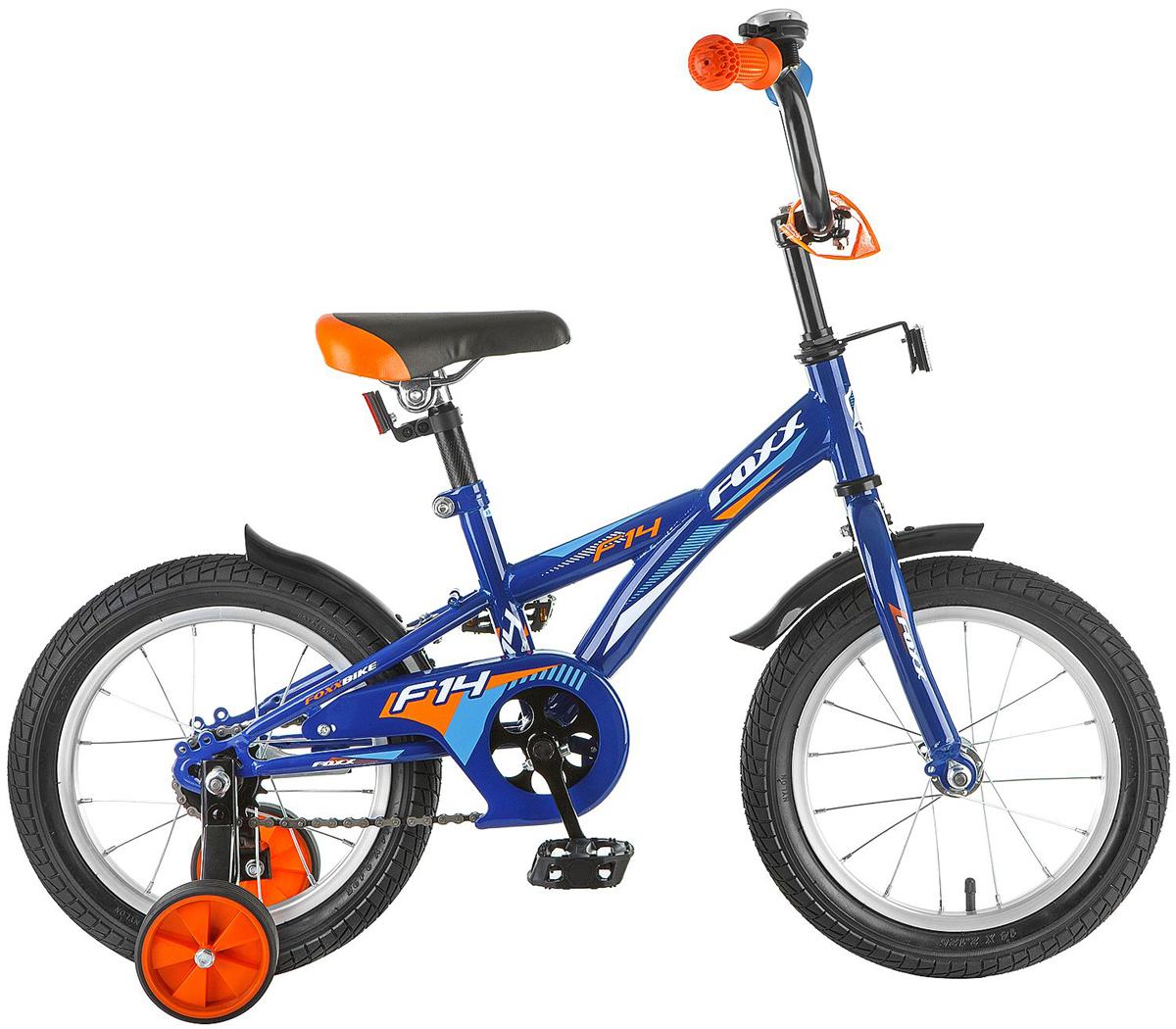 все цены на Велосипед детский FOXX F, цвет: синий, 14