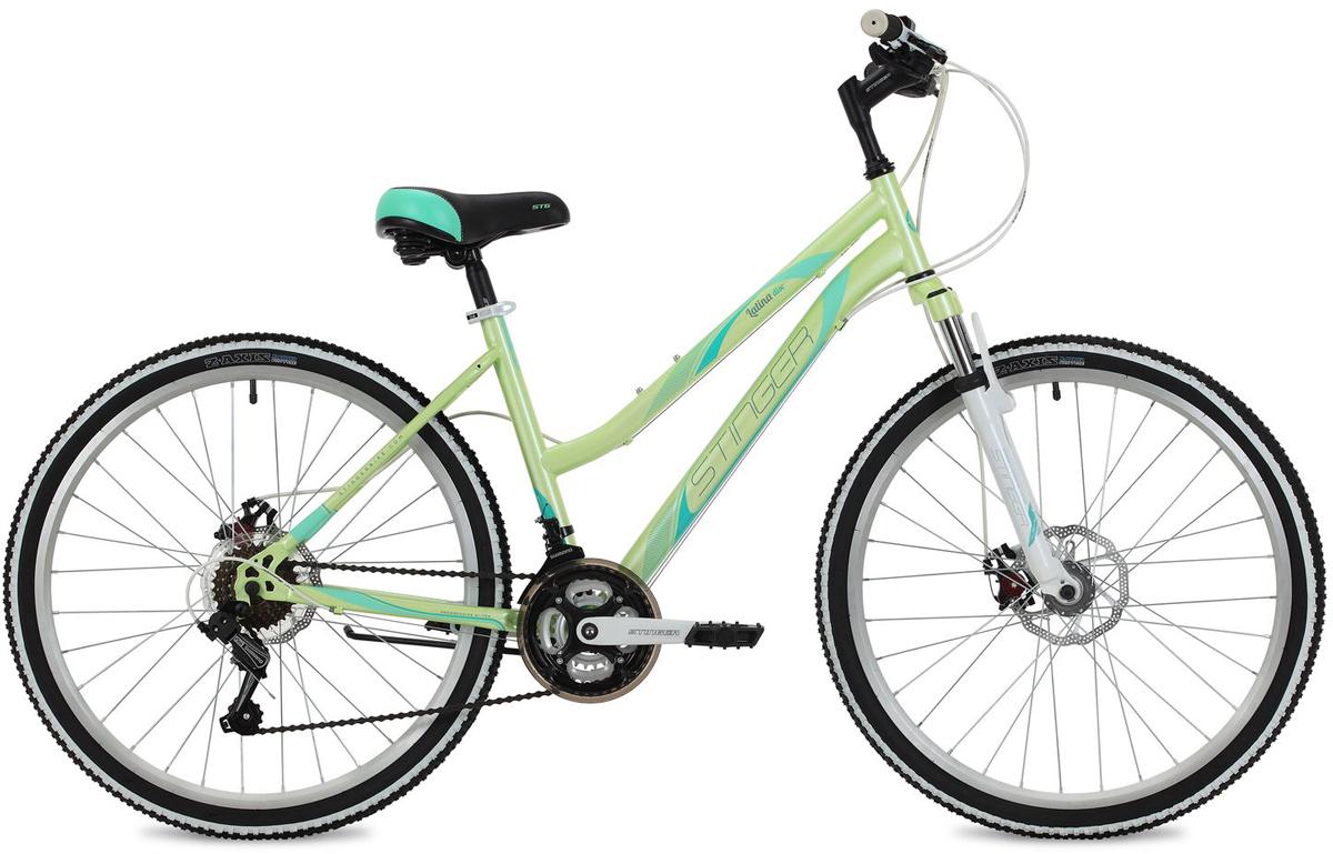 Велосипед горный Stinger Latina D, цвет: зеленый, 26, рама 15