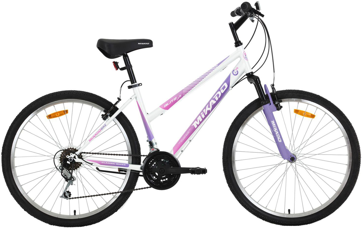 """Велосипед горный Mikado """"Blitz Evo Lady"""", цвет: белый, фиолетовый, 26"""""""
