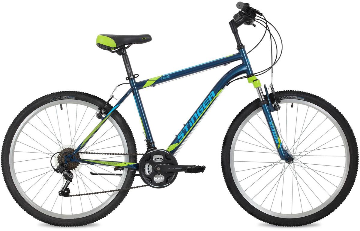 """Велосипед горный Stinger """"Caiman"""", цвет: синий, 26"""", рама 18"""""""