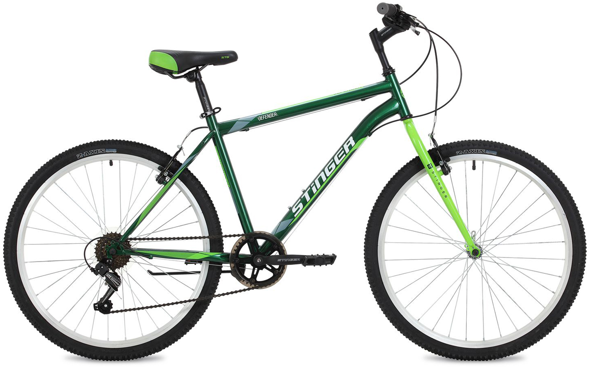 Велосипед горный Stinger Defender, цвет: зеленый, 26, рама 20 велосипед горный stinger highlander цвет зеленый 24 рама 14