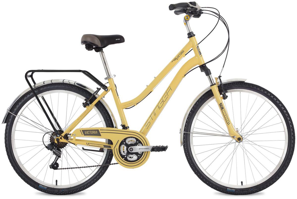 Велосипед городской Stinger Victoria, цвет: бежевый, 26, рама 15