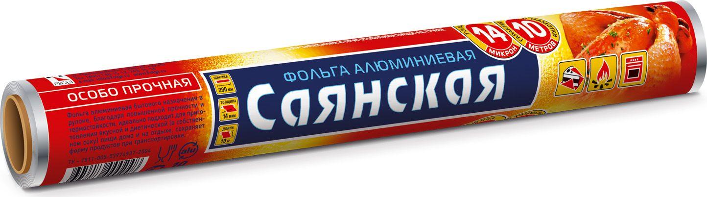 Фольга пищевая Саянская Особо прочная, 10 м х 29 см фольга алюминиевая саянская фольга стандартная толщина 9 мкм 29 см х 100 м