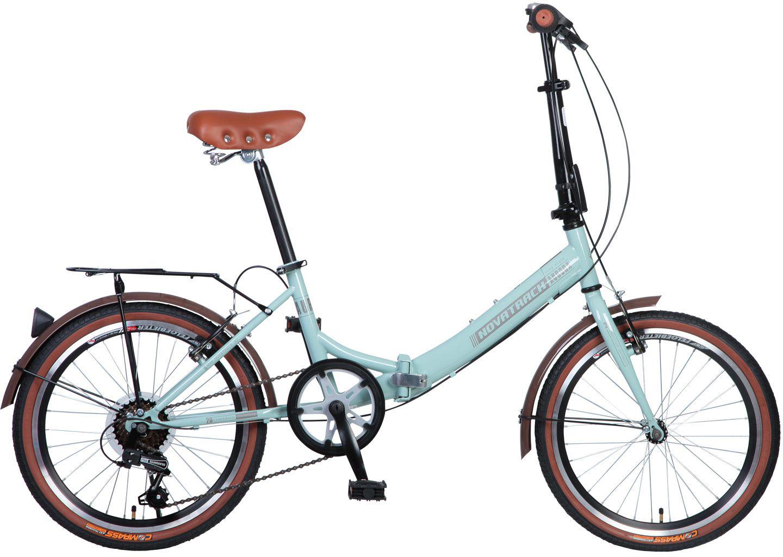 Велосипед складной Novatrack Aurora, цвет: светло-бирюзовый, 20