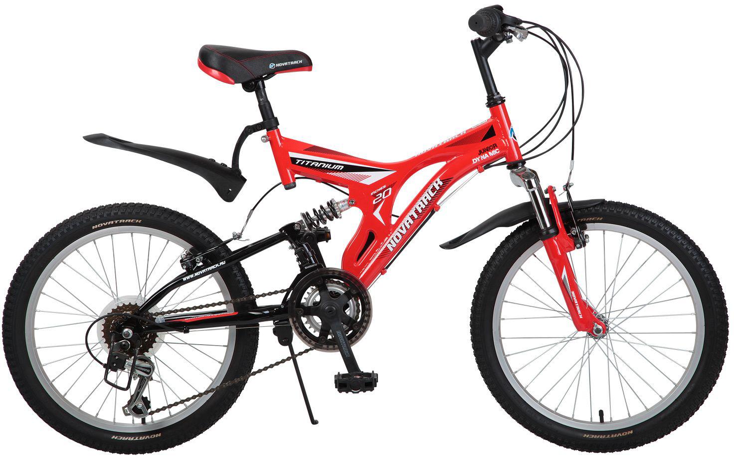 Велосипед детский Novatrack Titanium, цвет: красный, 20