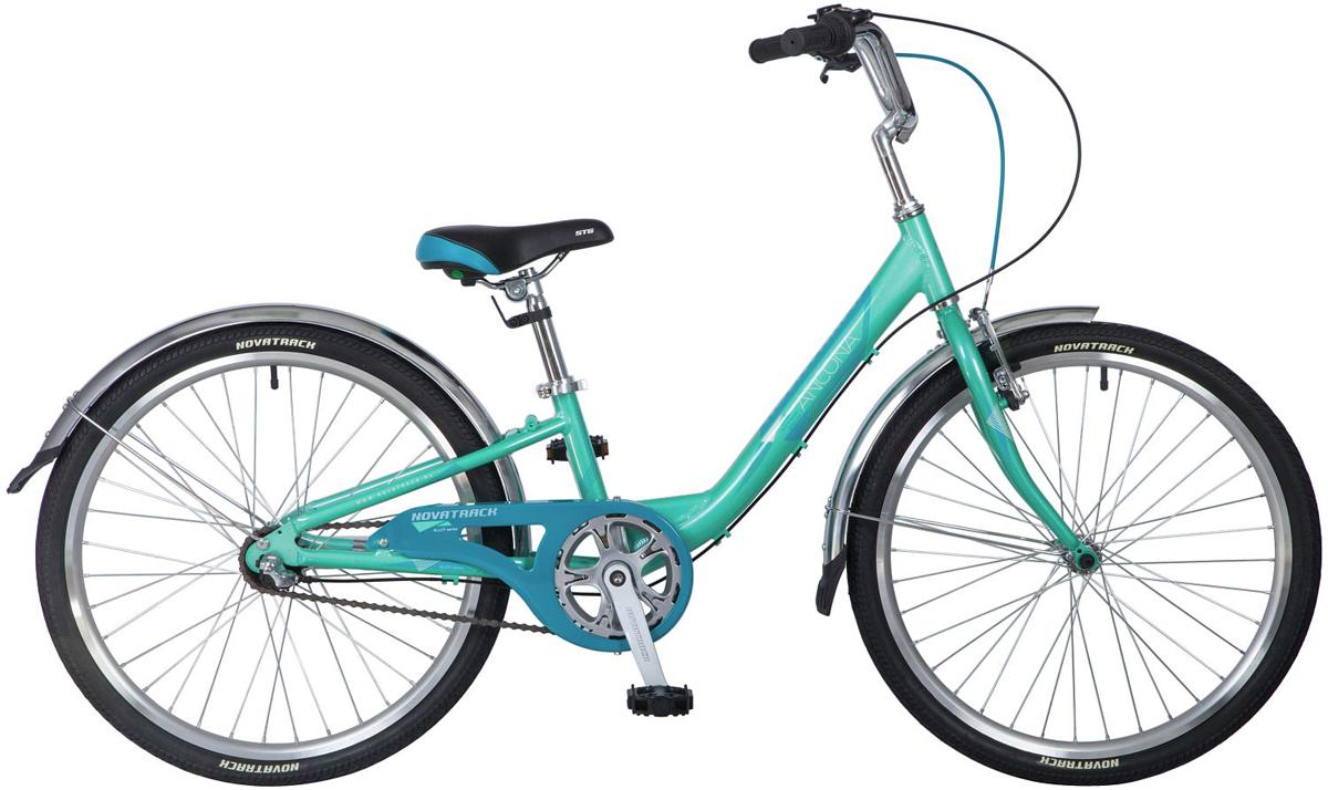 Велосипед детский Novatrack Ancona, цвет: зеленый, 24. 24AH3V.ANCONA.10GN8
