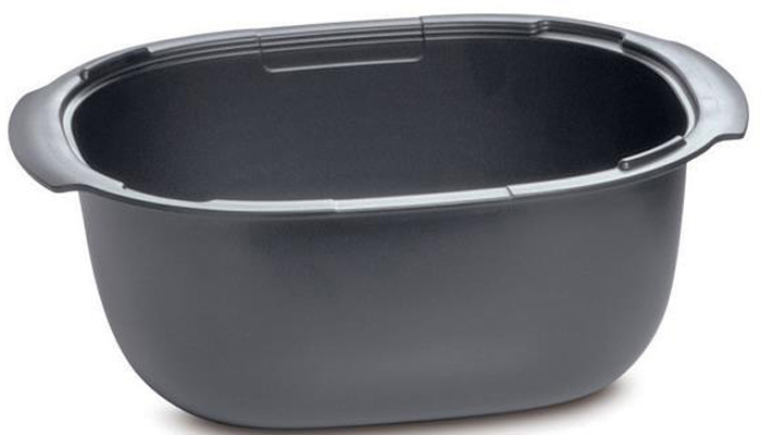 Блюдо для запекания Tupperware У06, ПолимерУ06Удобная овальная форма, приятный цвет мокрого асфальта, основание из полимера. Материал, из которого изготовлено изделие, благодаря своей термостойкости, может быть использован в диапазоне температур от –25 °С до +250 °С. Это позволяет использовать кастрюли как в морозильной камере, так и в духовой или микроволновой печи.