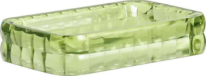 Мыльница Fixsen Glady, цвет: зеленый, 8 х 2,5 х 12,5 см ершик для унитаза fixsen glady с подставкой цвет мокко 41 х 13 2 х 13 2 см
