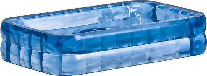 Мыльница Fixsen Glady, цвет: темно-синий, 8 х 2,5 х 12,5 см ершик для унитаза fixsen glady с подставкой цвет мокко 41 х 13 2 х 13 2 см
