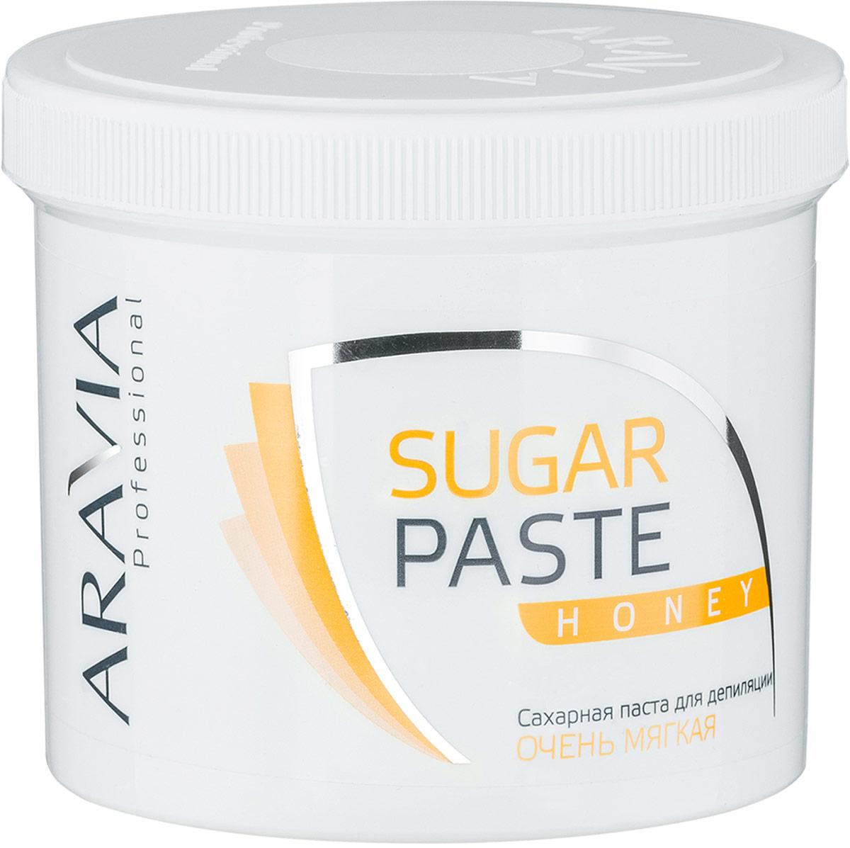 Aravia Professional Сахарная паста для депиляции Медовая очень мягкой консистенции, 750 г сахарная паста для депиляции медовая очень мягкой консистенции 750 гр