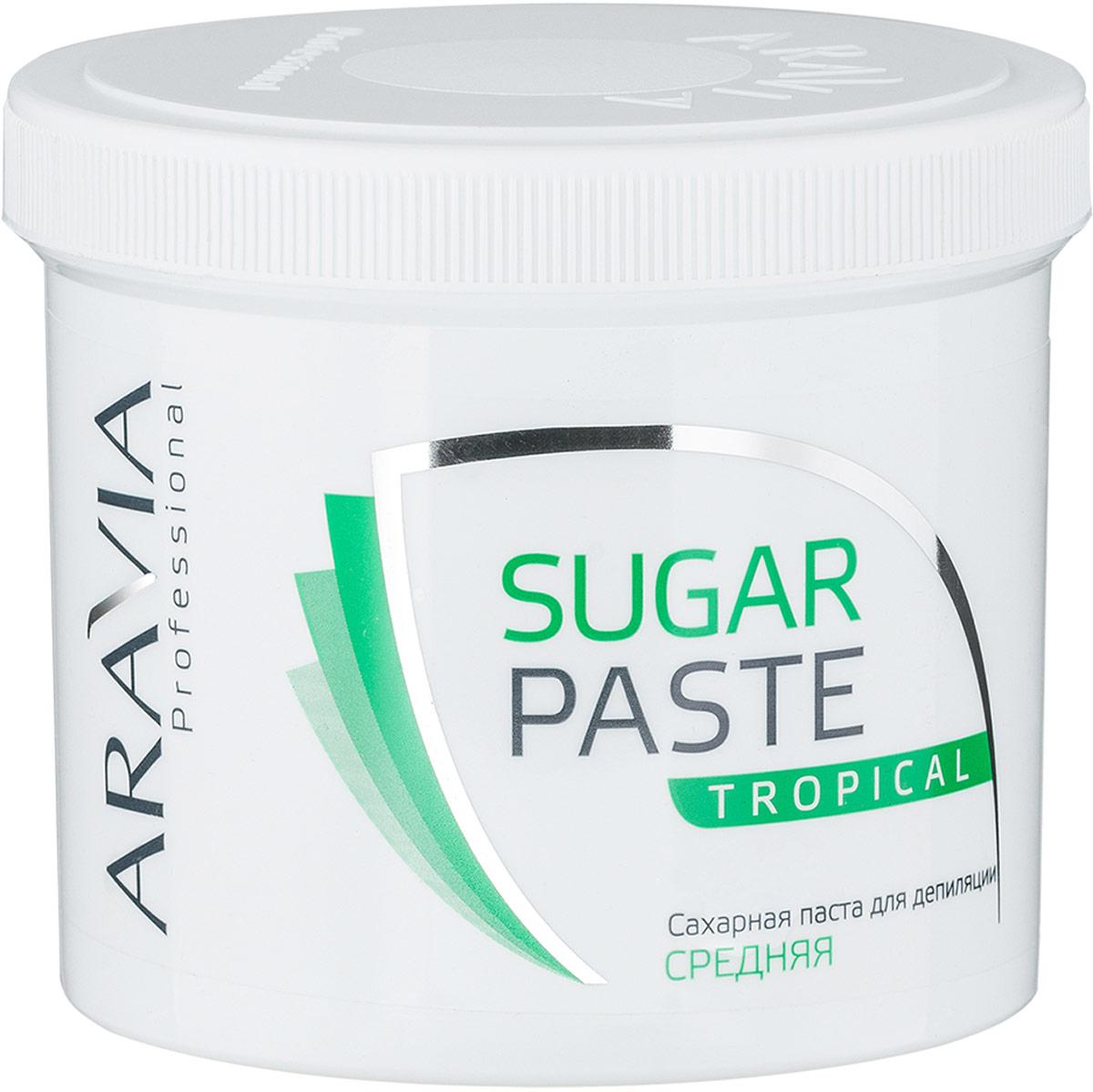 Aravia Professional Сахарная паста для депиляции Тропическая средней консистенции, 750 г