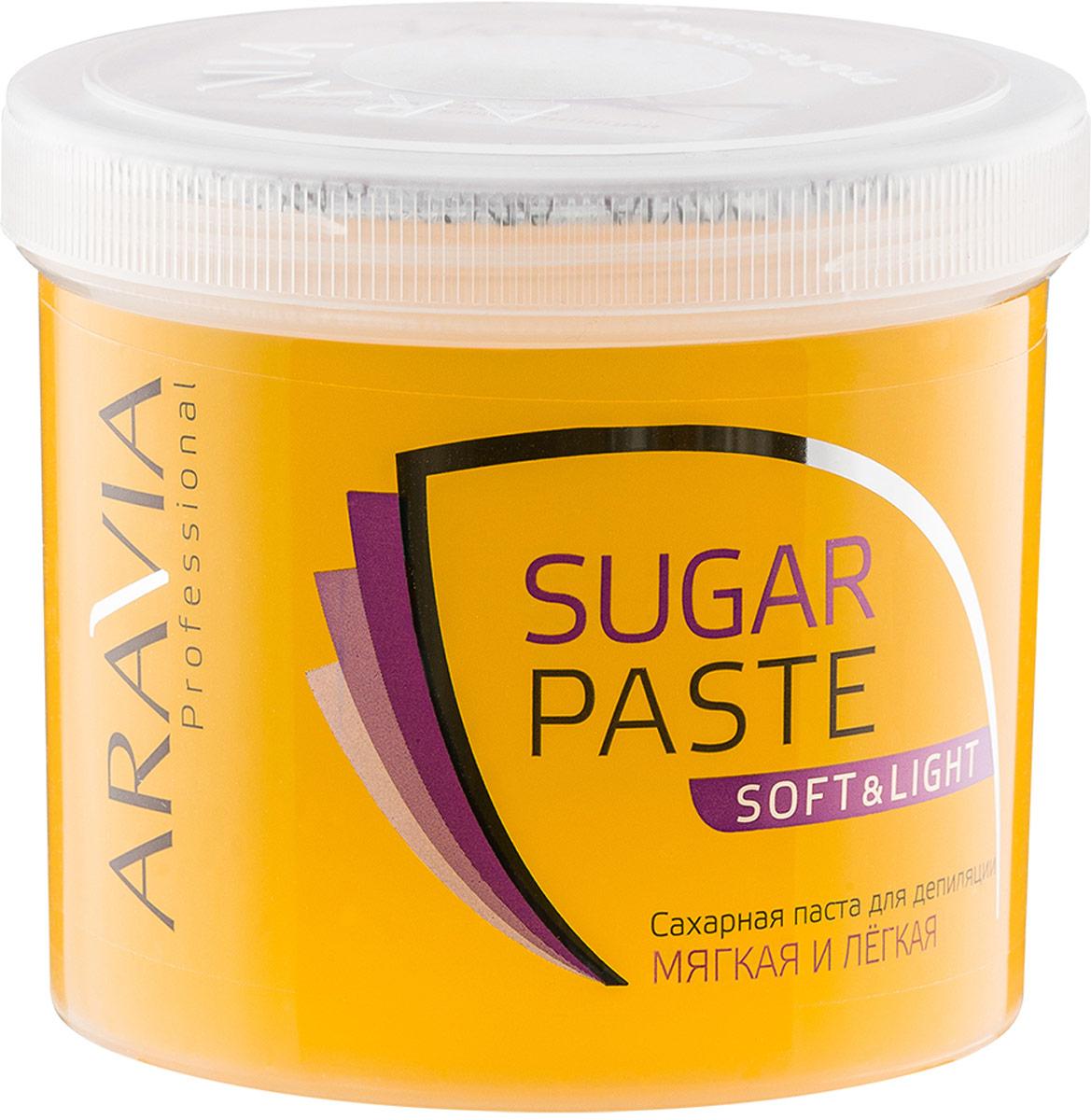 Aravia Professional Сахарная паста для депиляции Мягкая и легкая мягкой консистенции, 750 г