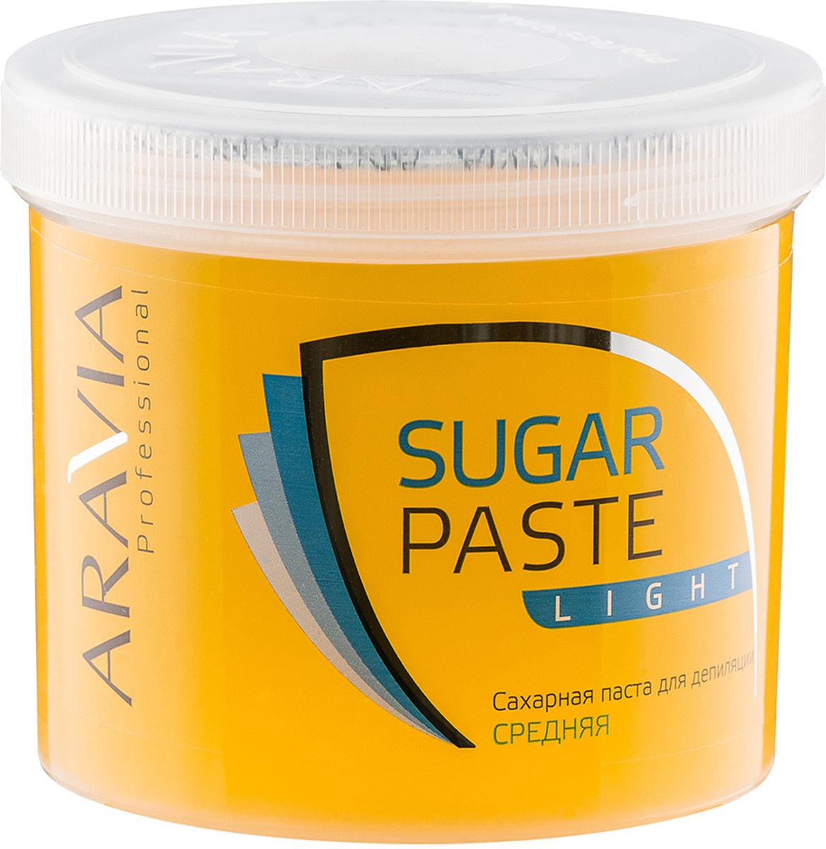 Aravia Professional Сахарная паста для депиляции Легкая средней консистенции, 750 г