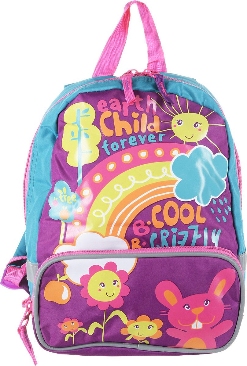 Grizzly Рюкзак детский цвет фиолетовый бирюзовый