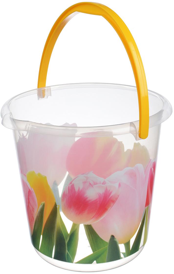 Ведро Idea. Тюльпан, цвет: прозрачный, 3 л. М 2424 масленка idea кристалл цвет оранжевый прозрачный