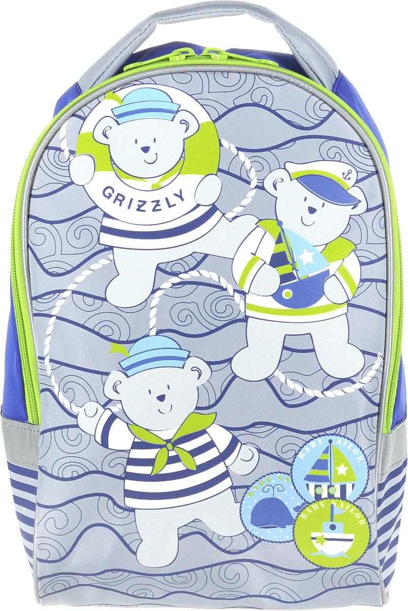 Grizzly Рюкзак детский цвет синий салатовый grizzly рюкзак черно салатовый