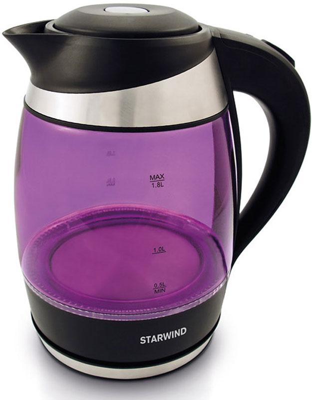 Электрический чайник Starwind SKG2217, Purple Black
