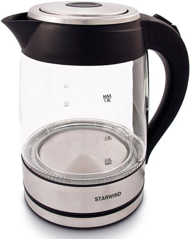 лучшая цена Электрический чайник Starwind SKG4710, Silver Black