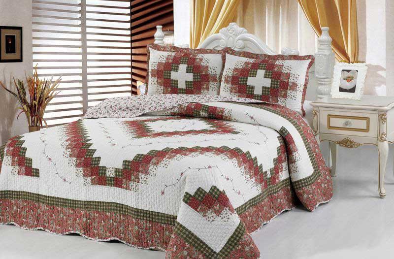 """Комплект для спальни Tango """"Patchwork"""": покрывало 230 х 250 см, наволочки 50х70 см, цвет: светло-бежевый, коричневый"""